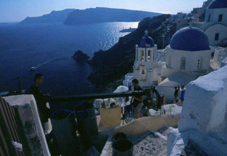 Greece: Secrets of the Pastoffers IMAX movie goers gorgeous shots of the Greek islands. Photo: MacGillivray Freeman Films