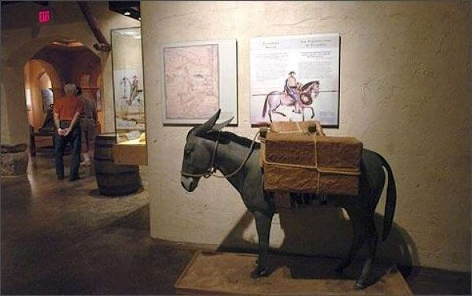 Displays tell the story of Anglo and Mexican settlement of the Valley. Photo: Delcia Lopez, San Antonio Express-News