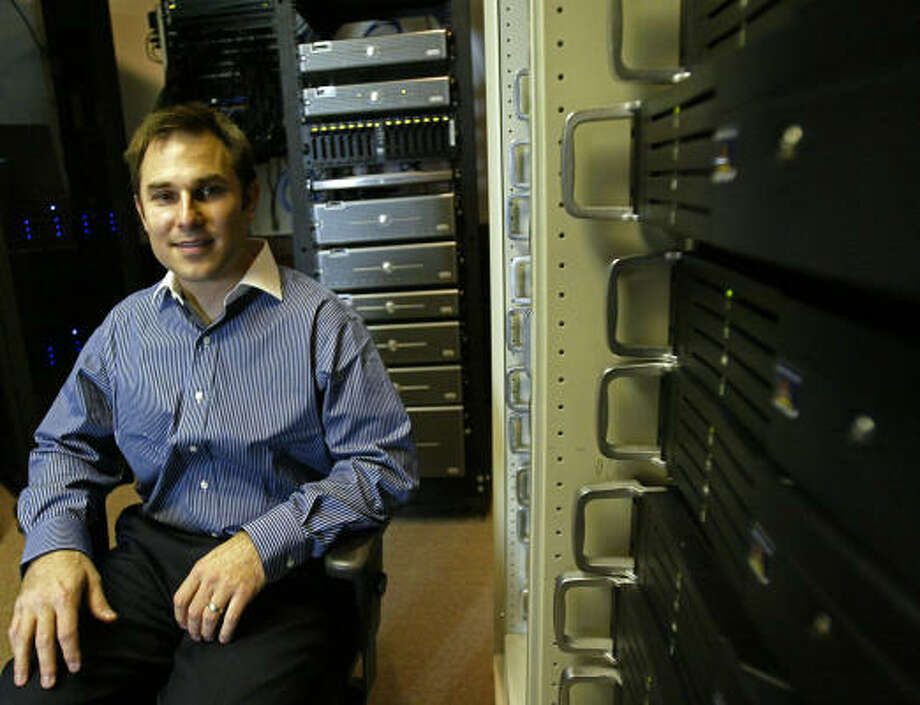 Matt Berry, chief executive of Lateral Data, turned away from opening a law practice to run a business that sifts through and processes electronic data for law firms. Photo: Jessica Kourkounis, For The Chronicle