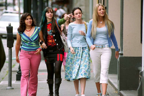Four lifelong friends share a bond, a cherished pair of jeans in  The Sisterhood of the Traveling Pants .