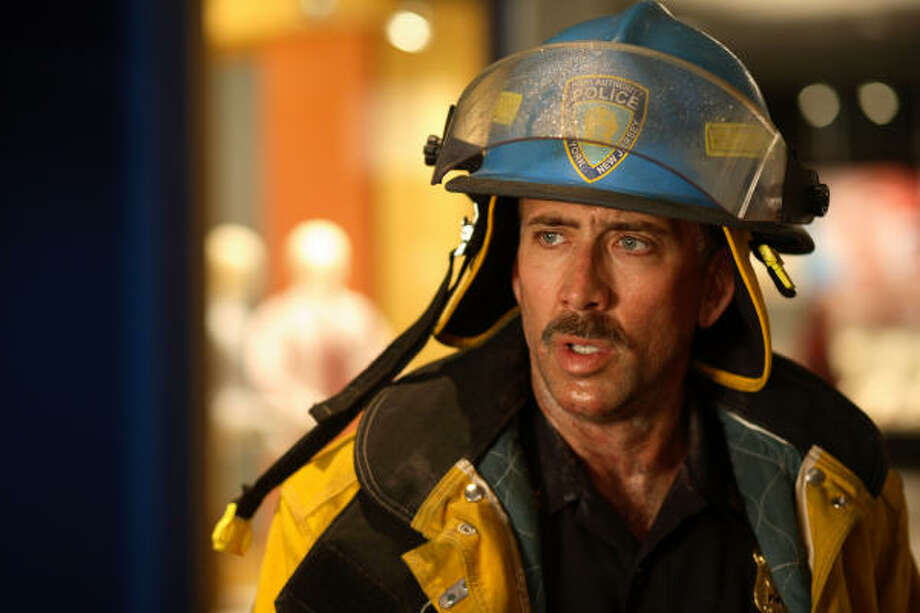 John McLoughlin (Nicolas Cage) was one of two men rescued from the rubble on 9/11. World Trade Center tells their story. Photo: François Duhamel, Paramount Pictures