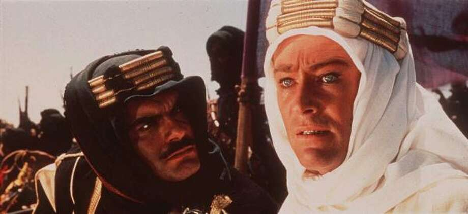 LAWRENCE OF ARABIA: Named Top Epic (Peter O'Toole, right, and Omar Sharif). Photo: AP