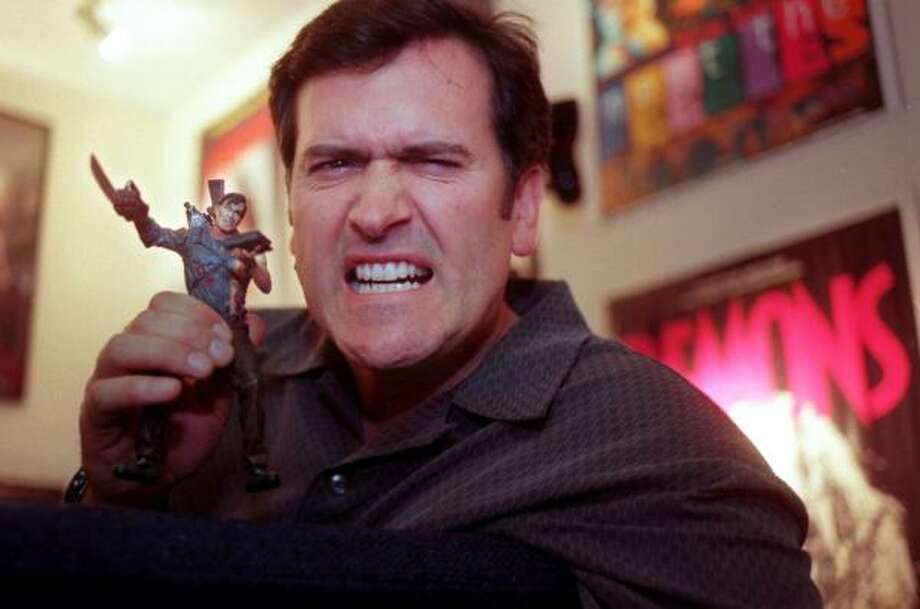 Bruce Campbell Born: June 22, 1958 Geek faves: Evil Dead series; The Adventures of Brisco County Jr.; Autolycus in Xena: Warrior Princess/Hercules: The Legendary Journeys; Spider-Man; plus cameos and Bubba Ho-tep. Photo: ERIC SEALS, Knight Ridder Tribune