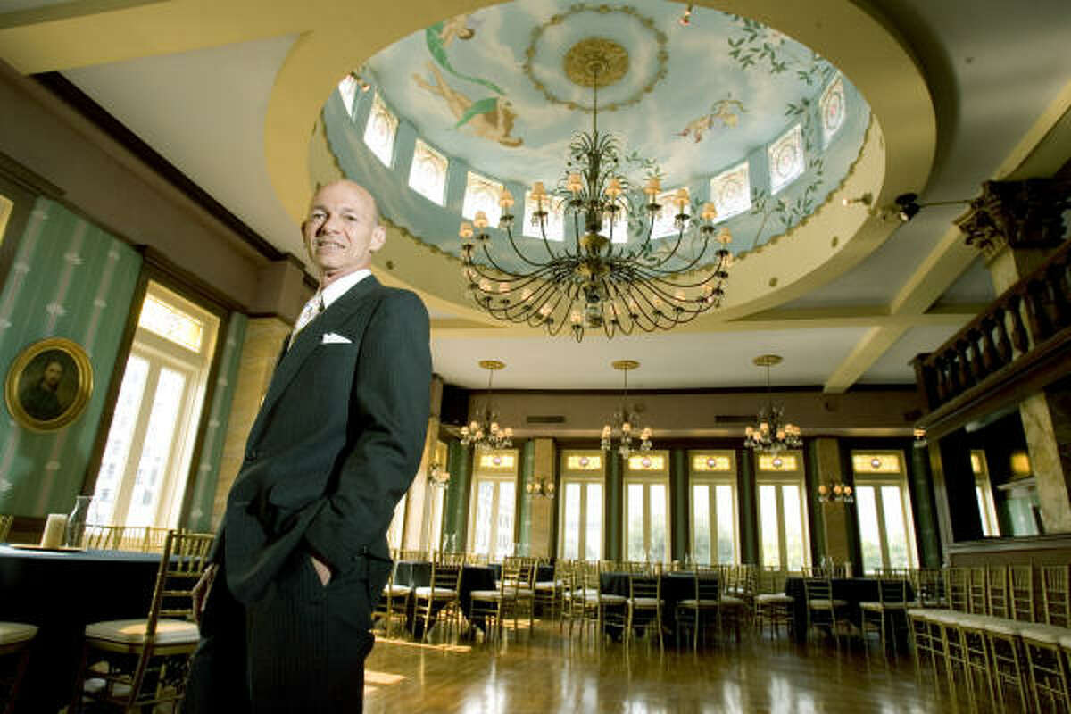 Owner Bart Truxillo stands in the Historic Magnolia Ballroom, the former taproom of the Magnolia Brewery and the first commercial building in Houston to receive the Houston Protected Landmark designation. Truxillo bought the building in 1967.