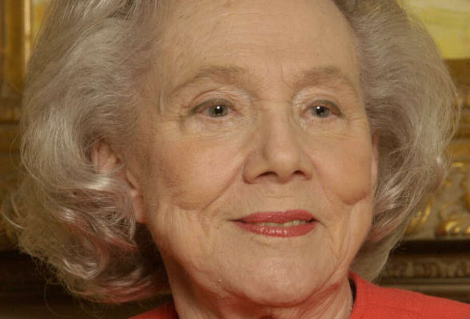 Former Texas first lady Nellie Connally died at her home in Austin while sitting at her desk writing thank-you notes. Photo: Karen Warren, Chronicle