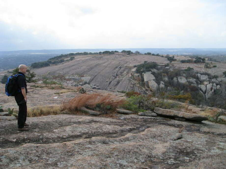 Looking for some natural enchantment? Go for a hike at Enchanted Rock. Photo: Louis B. Parks, CHRONICLE