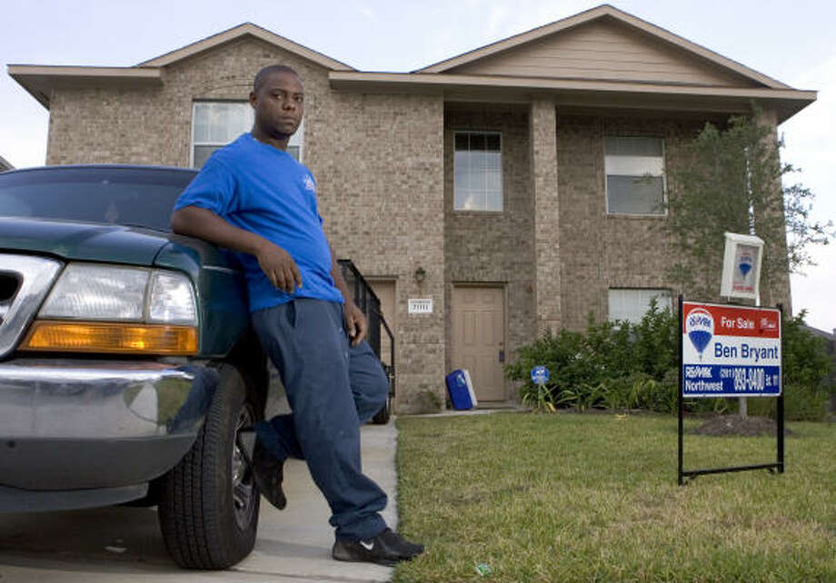 Billy Addison, owner of this Northridge Park West home, faces possible foreclosure. Photo: BRETT COOMER, CHRONICLE