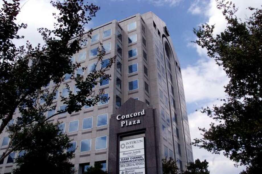 Clear Channel Communications, located in the Concord Plaza building in San Antonio, is considering a buyout. Photo: ERIC GAY, AP