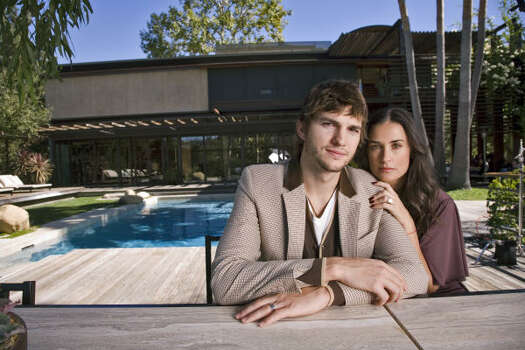 Ashton Kutcher and Demi Moore: Shot for the cover of Architectural Digest.  Harry Benson said the couple was very friendly and offered him lunch which is not the norm when shooting celebrities. Photo: Harry Benson