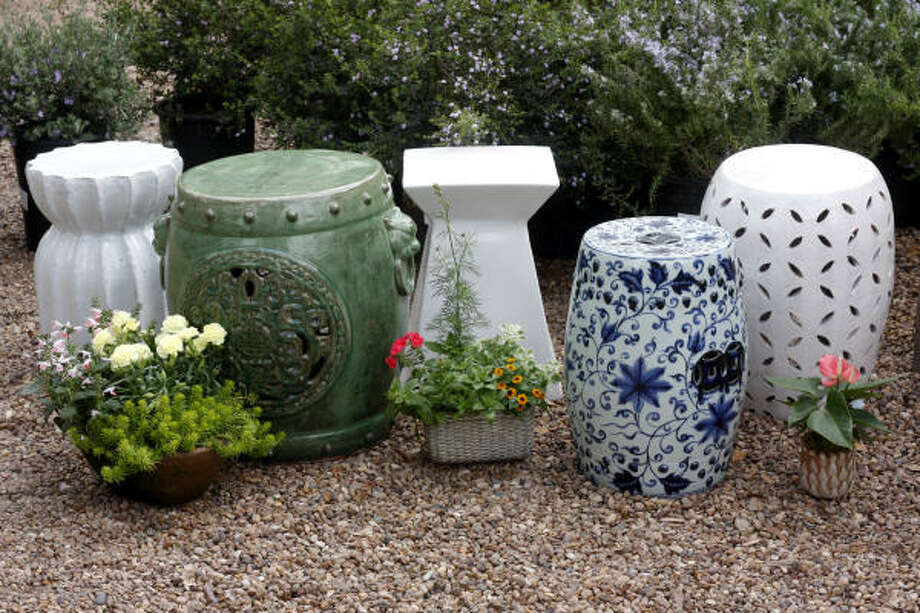 Garden stools go traditional, modern or earty, $195-$695, Thompson & Hanson Photo: Steve Ueckert, Houston Chronicle