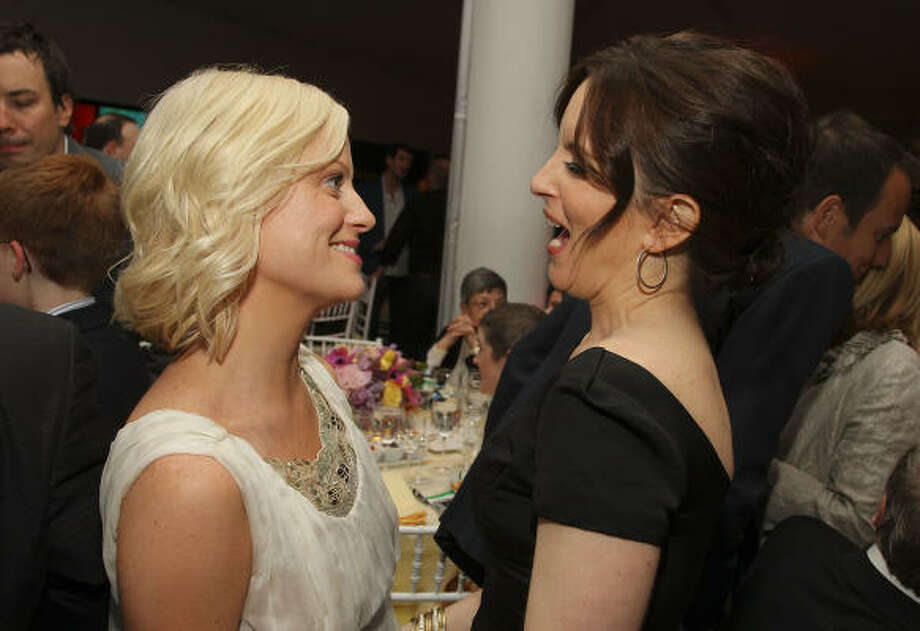 Sunday: Amy Poehler and Tina Fey will host the 70th Golden Globe Awards Sunday at 7 p.m. on NBC.  Photo: Stephen Lovekin, Getty Images For Tribeca Film Fe