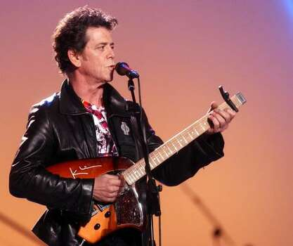 """Lou Reed says, """"it's a great time for music."""" Photo: Associated Press"""