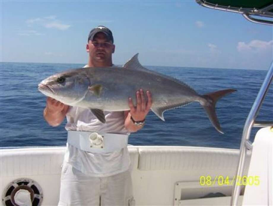 Donny Boy Springfield shows off his first amberjack.