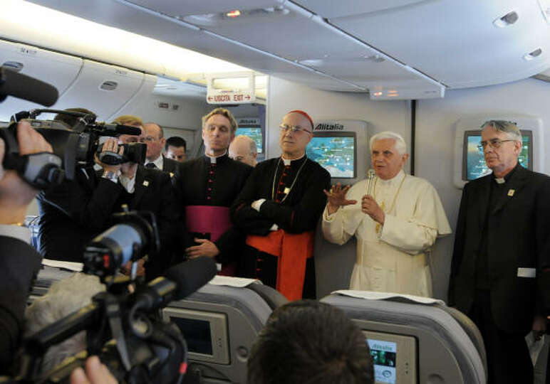 In this photo provided Wednesday by the Vatican newspaper L'Osservatore Romano, Pope Benedict XVI is