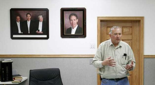 Lamar Johnson, Fundamentalist Church of Jesus Christ of Latter Day Saints member with four daughters currently in state's custody, discusses the raid in his home. Photo: Trent Nelson, AP