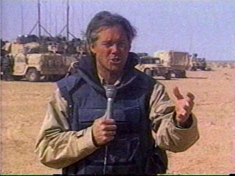 NBC's David Bloom, 39, was reporting the beginning of the war on Iraq in April 2003 when he died of a pulmonary embolism. The war in Iraq so far has claimed the lives of 74 journalists. Photo: Associated Press
