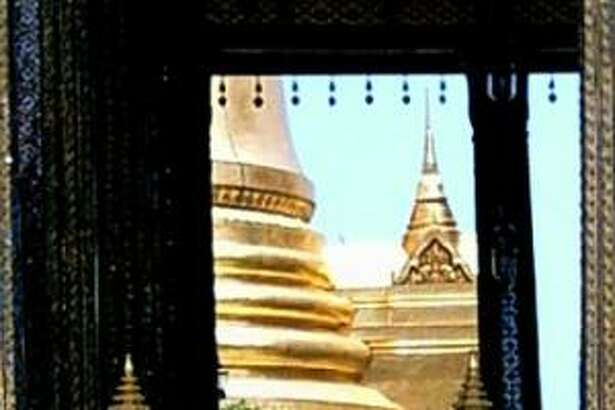 Golden temples of Wat Phra Kaeo at the Grande Palace