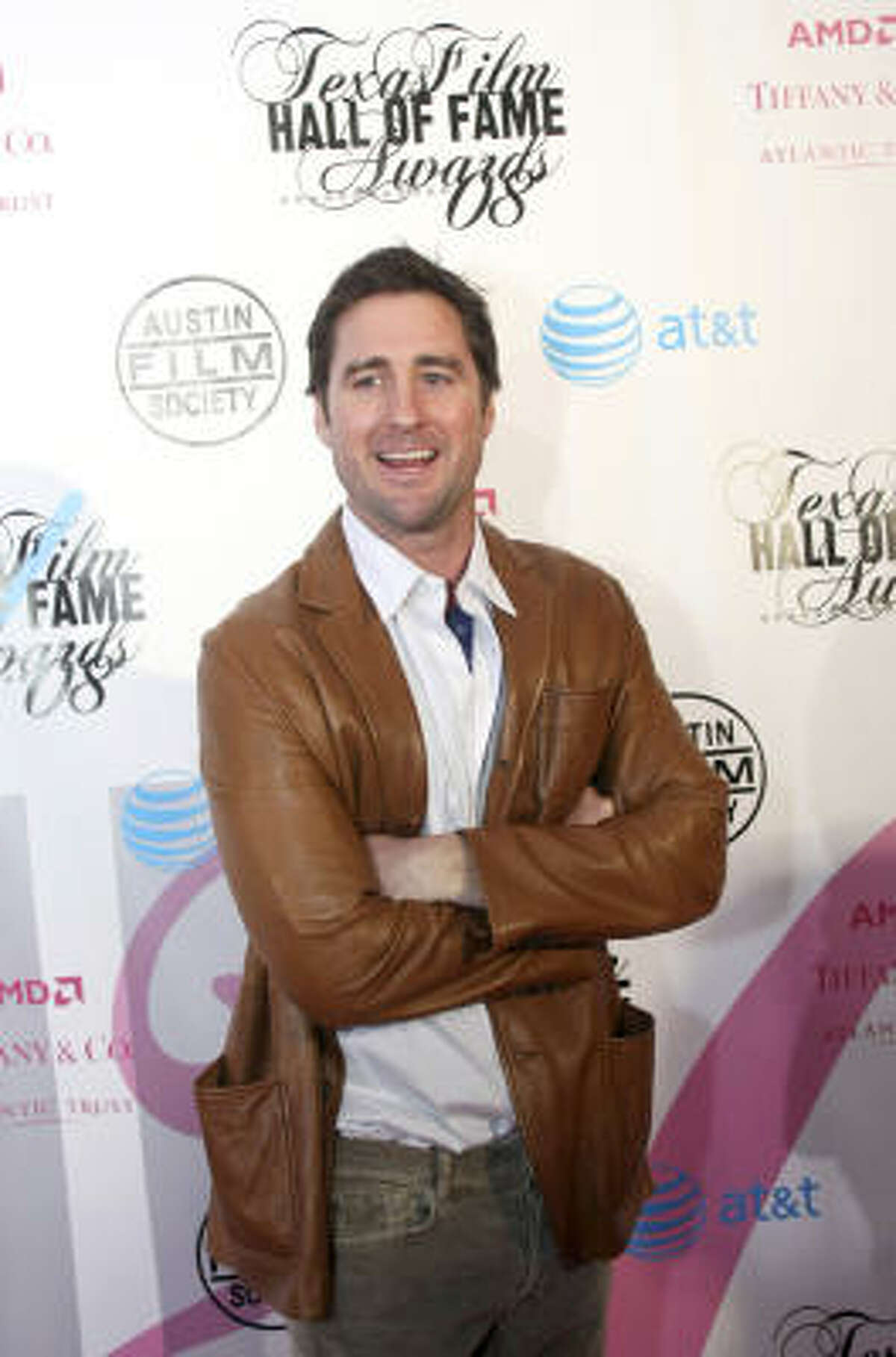 Luke Wilson arrives at the Texas Hall of Fame Awards, an event associated with SXSW's first night.
