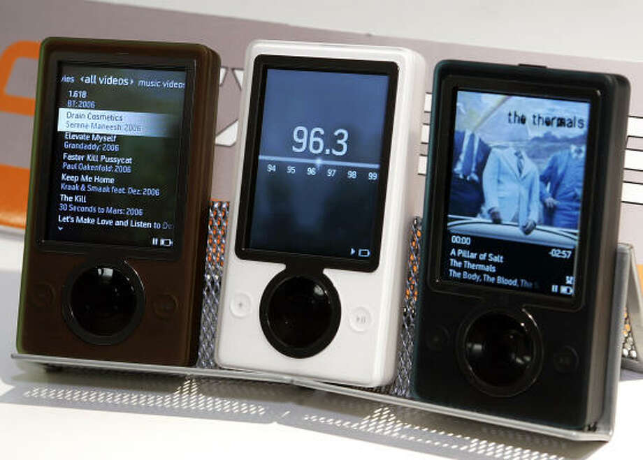 Microsoft's new music player, Zune Photo: TIMOTHY A. CLARY, AFP/Getty Images