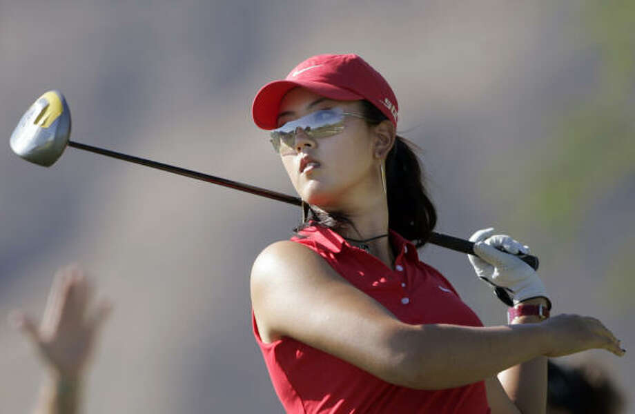 Michelle Wie will compete in the Sony Open, trying again to make the 36-hole cut in for the first time in a PGA Tour event. Photo: REED SAXON, AP