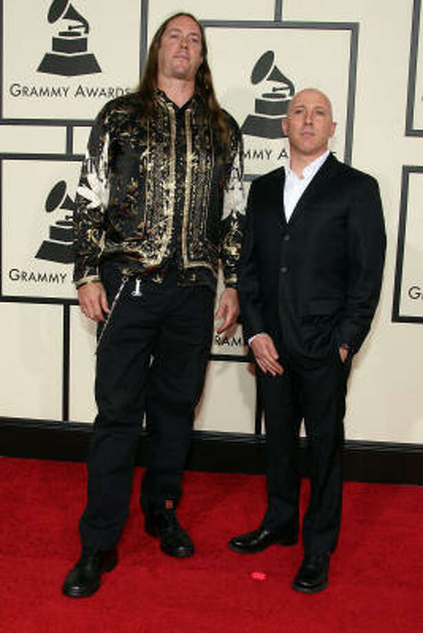 Tool's Maynard James Keenan (right) has his own wine brand. Photo: Frazer Harrison, Getty Images