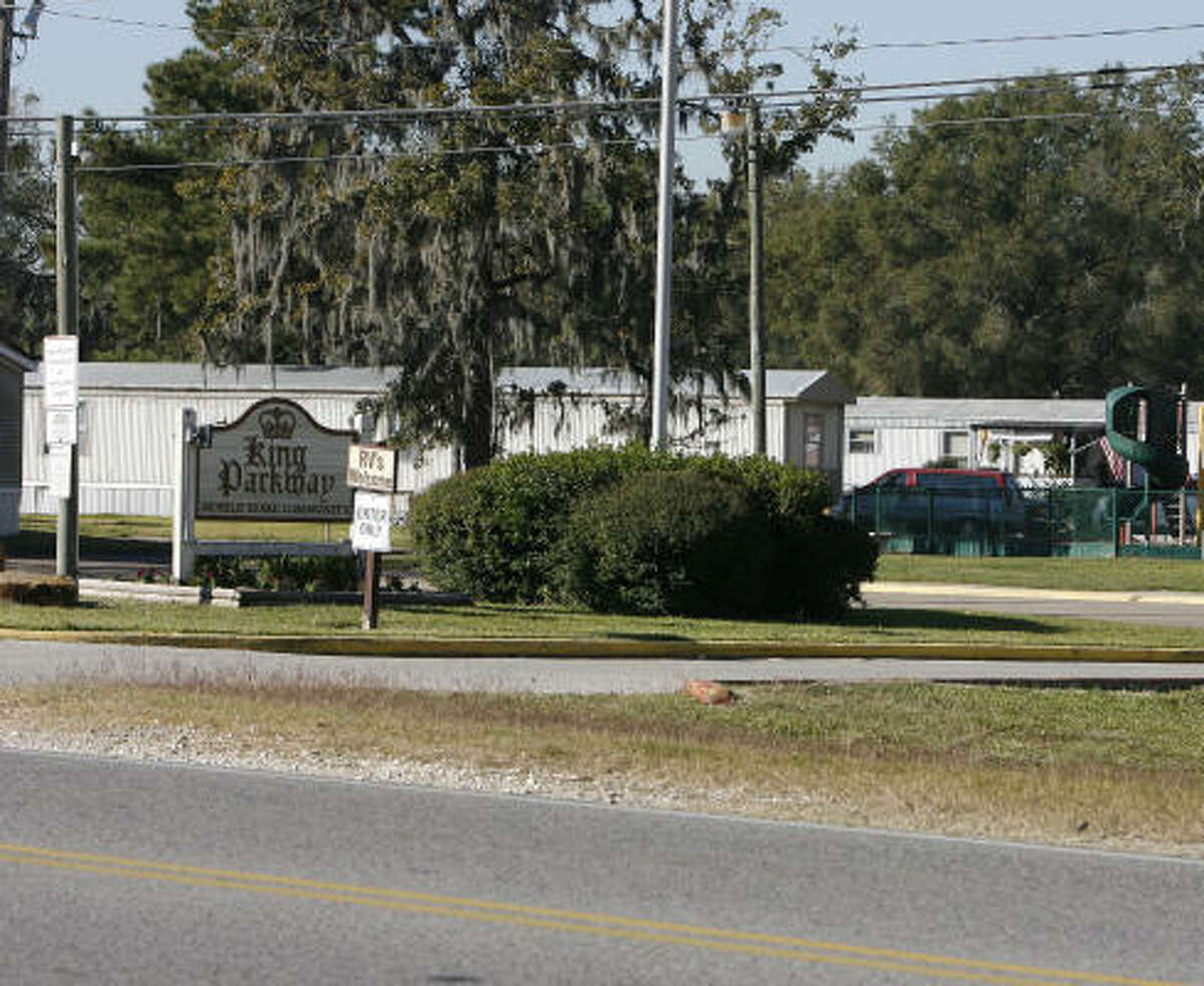 Another view of the King Parkway mobile home community, where a 4 -year-old boy was mauled to death by two pit bulls.