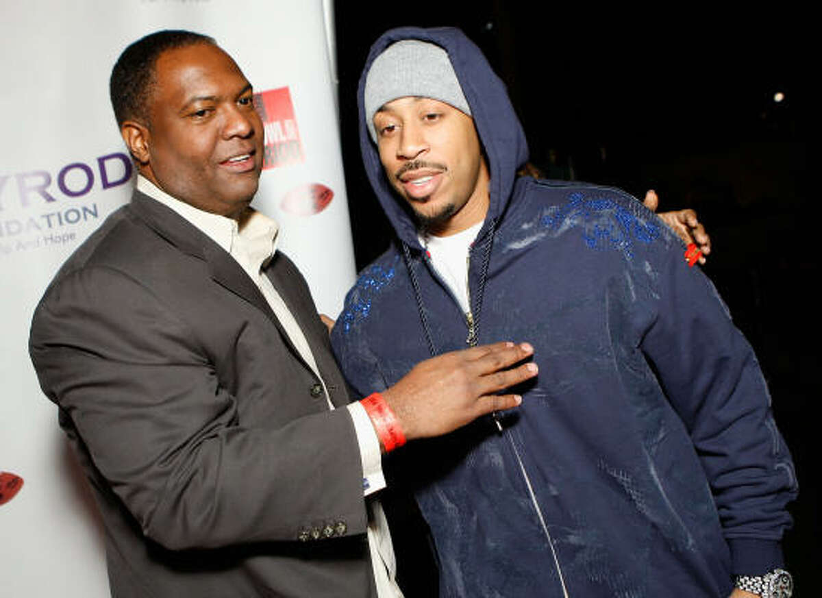 Rodney Peete Football great Rodney Peete (seen here with Ludacris) and his wife Holly Robinson Peete have long been vocal in support of their son Rodney Jr. and working for the cause.