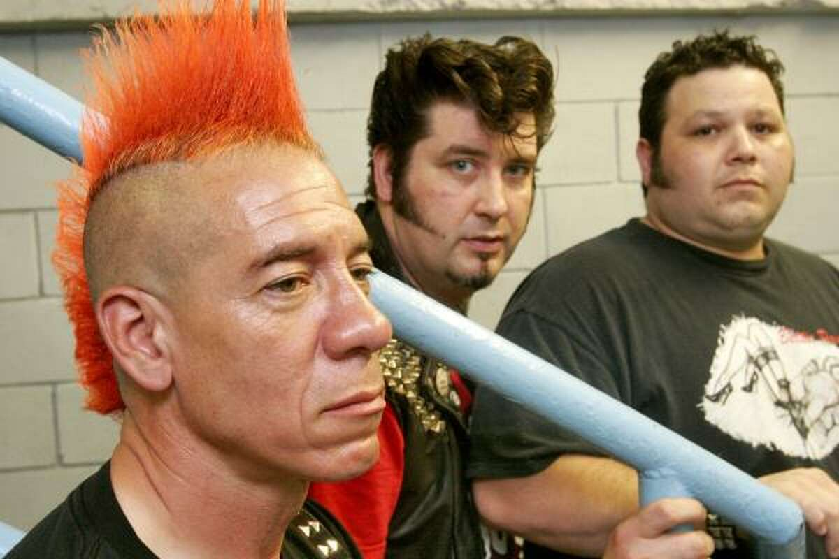The Hates is, from left, Christian Arnheiter, Dade Deviant and Joel Juggernaut.