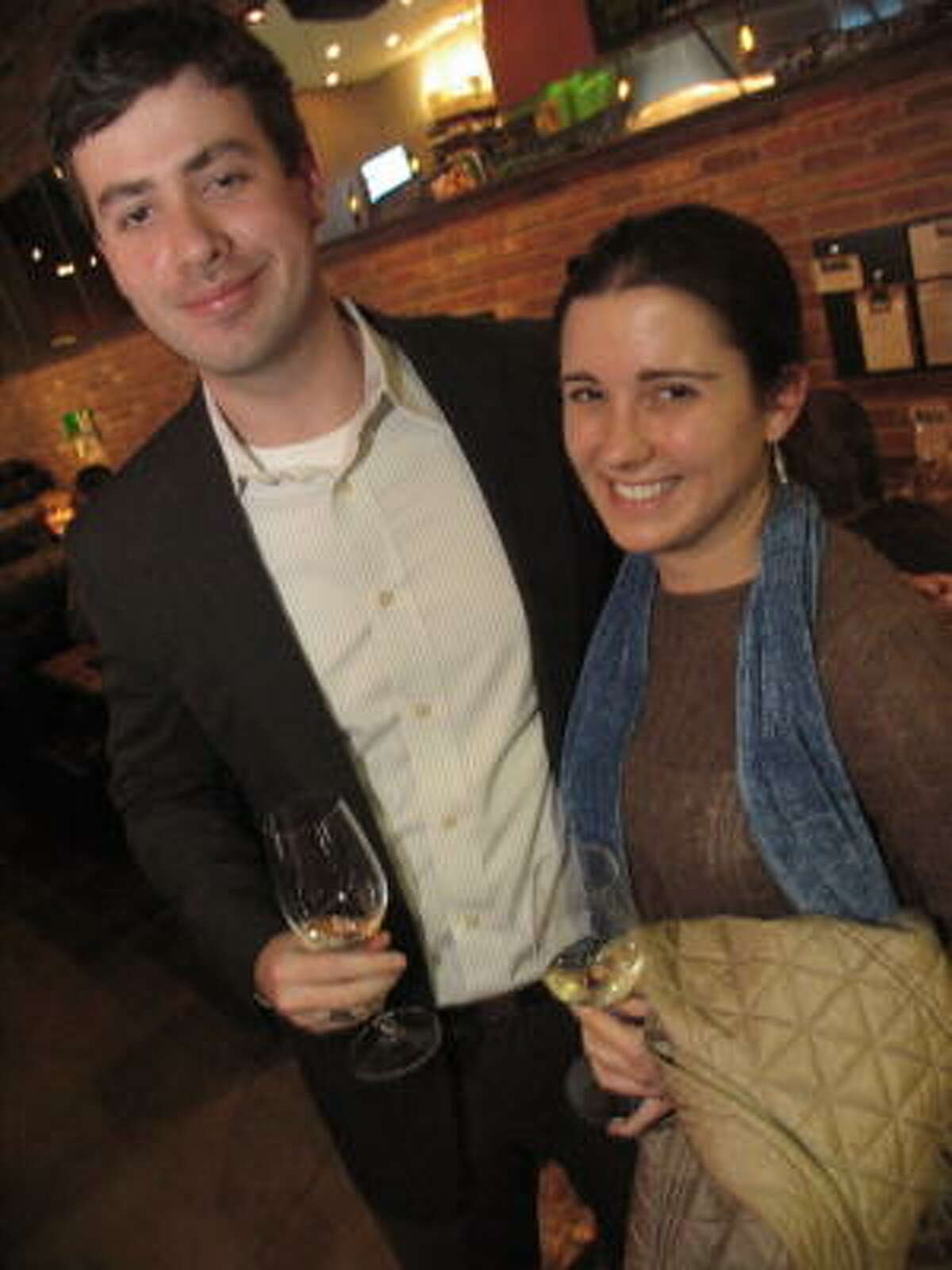 Andy Post, left, and Parker Gregg enjoyed some white wine at Max's Wine Dive, 4720 Washington Ave.