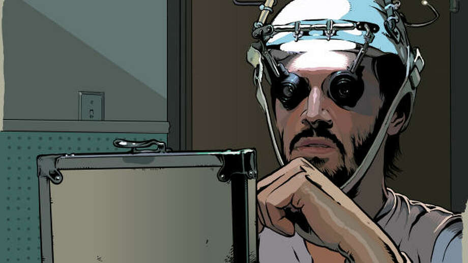 An undercover detective (Keanu Reeves) becomes addicted to the drug he's trying to destroy, in A Scanner Darkly. Photo: Warner Independent Pictures