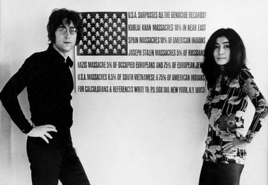 A photo of John Lennon and Yoko Ono featured in The U.S. vs. John Lennon. Photo: Courtesy Of Barrie Wentzell
