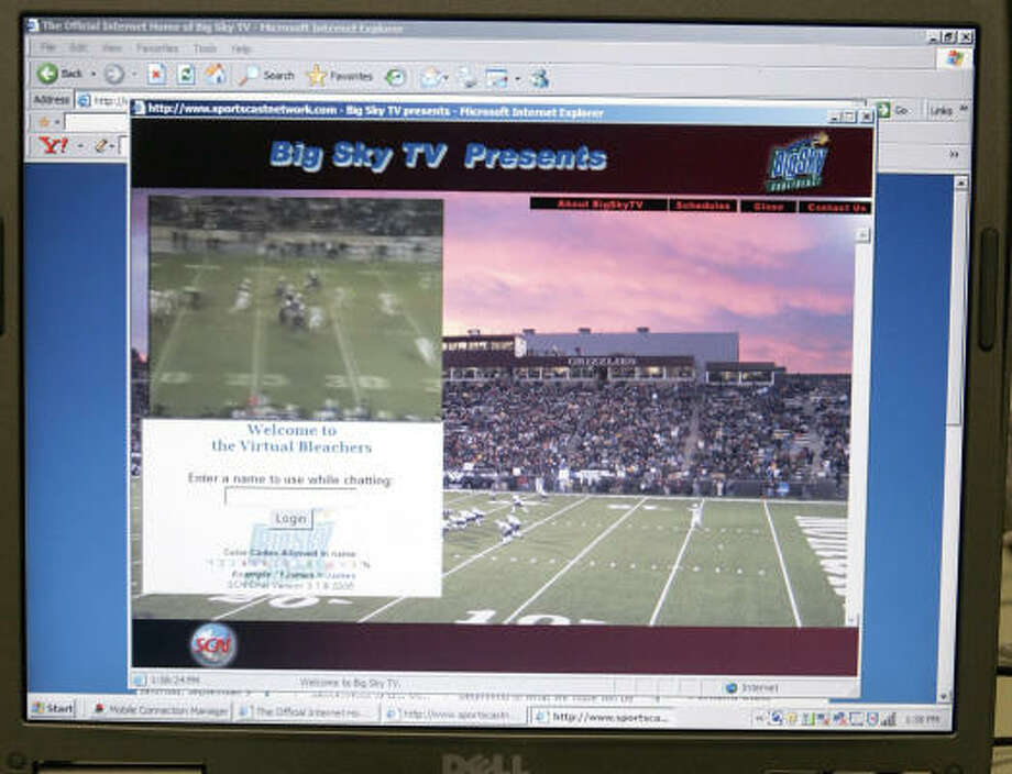 The Big Sky Conference shows its games over the Internet, getting around the snub most small conferences get from TV networks. Photo: BOB CHILD, AP