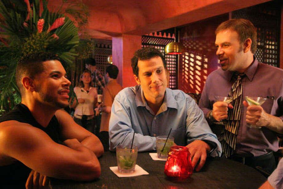 Wilson Cruz, from left, Jonathan Bray and Jason Stuart star in Coffee Date. Photo: Slowhand Releasing