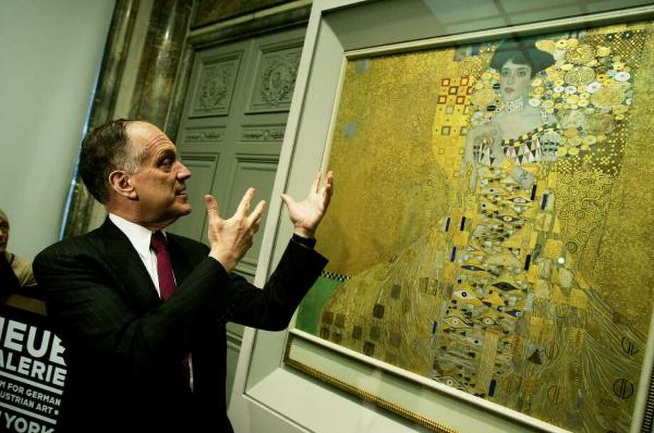 Cosmetics mogul Ronald Lauder says he might be interested in bidding on some of the other Gustav Klimt paintings to go with his gold-flecked portrait of Adele Bloch-Bauer hanging in the Neue Galerie museum in New York. Lauder purchased the portrait of Bloch-Bauer for a reported $135 million. Photo: Chris Hondros, Getty Images