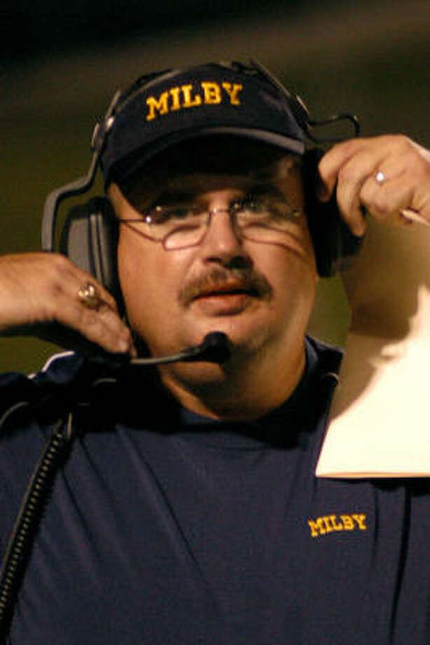 Milby head football coach Phil Camp will lead the winless Buffaloes back into action Thursday night at Pasadena. Photo: Robert Barreda, For The Chronicle