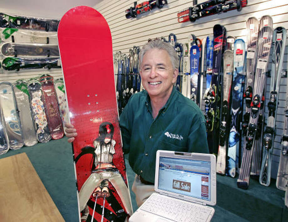 Barry Goldware, president and CEO of Sun & Ski Sports, is making a major push toward selling his products on the Internet. Photo: Craig Hartley, For The Chronicle