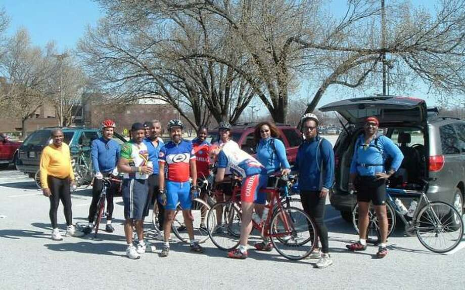 Members of Black Ski Inc. gather after biking in Maryland. The Washington-based travel group, with more than 1,500 members, bills itself as the largest gathering of skiers of color in the United States. Photo: BLACK SKI INC.