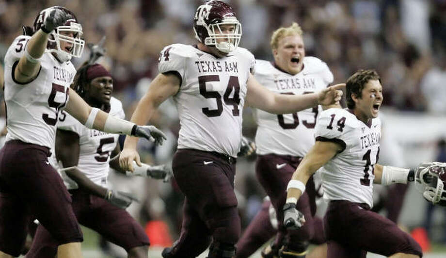 The undefeated Aggies will face Texas Tech, their first Big 12 opponent, at Kyle Field on Saturday. Photo: ERIC GAY, AP