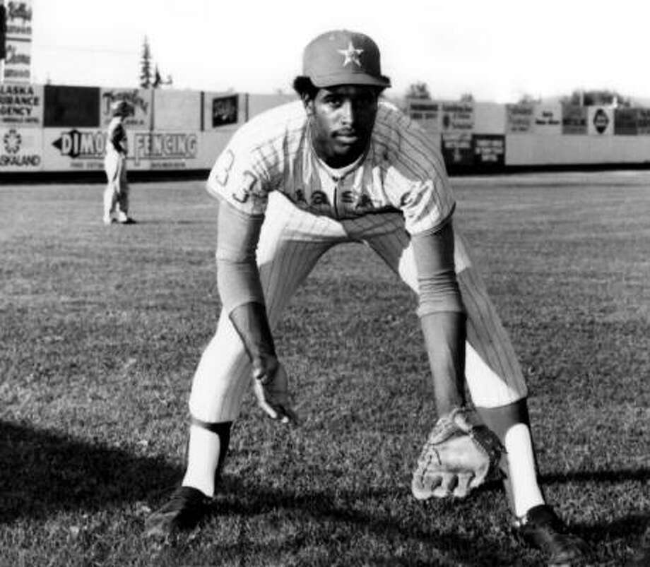 Dave Winfield narrates a program of baseball music with the Houston Symphony tonight. In the photo below he is shown during his years with the Alaska Goldpanners. Photo: Associated Press