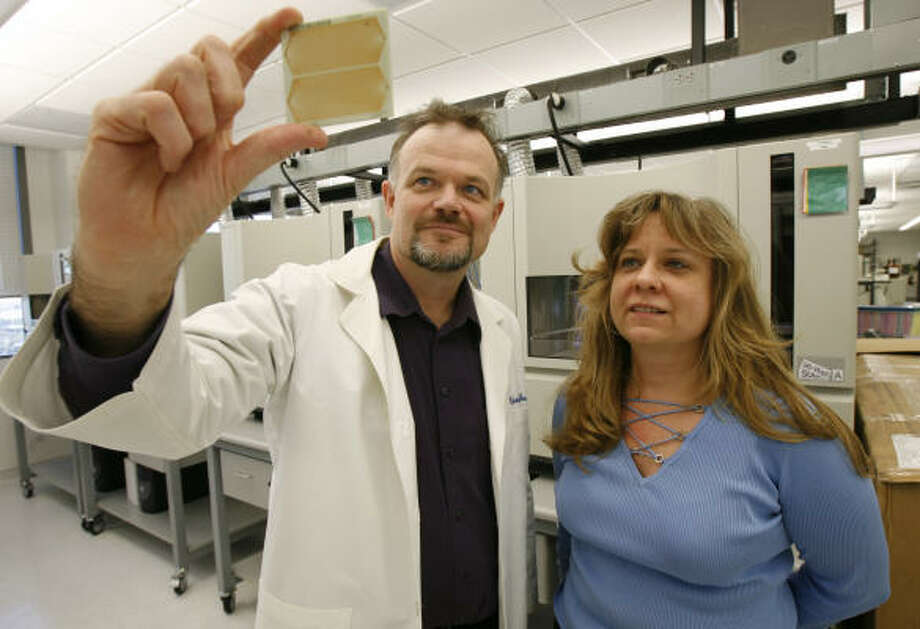 Richard Gibbs is director of the Baylor College of Medicine's Human Genome Sequencing Center, and Donna Muzny is director of operations at BCM. Photo: KAREN WARREN, Chronicle