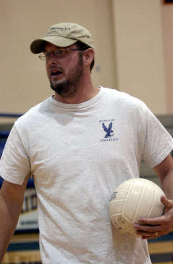 Kinkaid boys volleyball coach Jon Vines. Photo: Kim Christensen, For The Chronicle