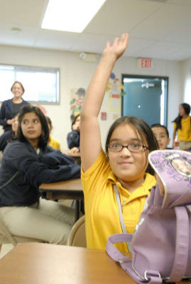 Monica Galvan, a sixth-grader at YES Prep Public School, will be joined at the school by her two siblings, if her mother has her way. Photo: Tony Bullard, For The Chronicle