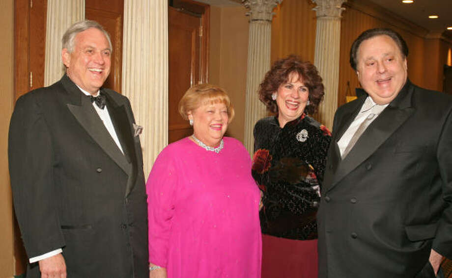 Former ambassador to the Bahamas Arthur Schechter and his wife, Joyce, from left, and Donna and Tony Vallone were honored at the National Council of Jewish Women Starlight Ball at the Marriott Houston Westchase. Photo: Gary Fountain, For The Chronicle