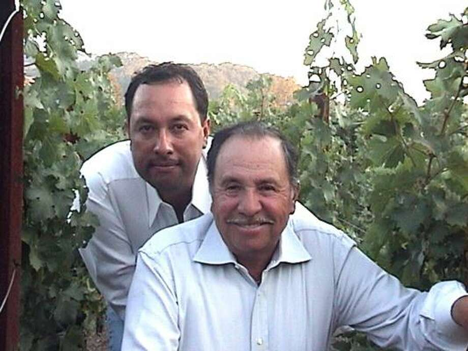 Oscar Renteria, left, and his father, Salvador, make some fine wines from several California appellations. Photo: Renteria Vineyard
