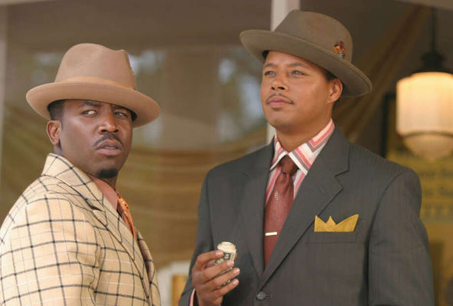 Antwan A. Patton, left, portrays showy lead performer and club manager Rooster, and Terrence Howard portrays villainous Trumpy, in Idlewild. Photo: Courtesy Photo
