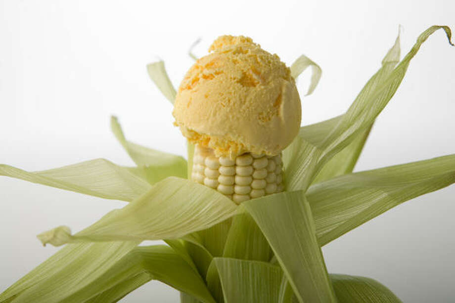 Corn and cheddar ice cream tastes better than it sounds. Think cheesecake. Photo: Kevin Fujii, Chronicle