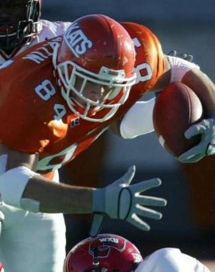 Blake Martin and Sam Houston State, a Division I-AA school from the Southland Conference, faces No. 7 Texas for the first time Saturday night in Austin. Photo: Karen Warren, Houston Chronicle