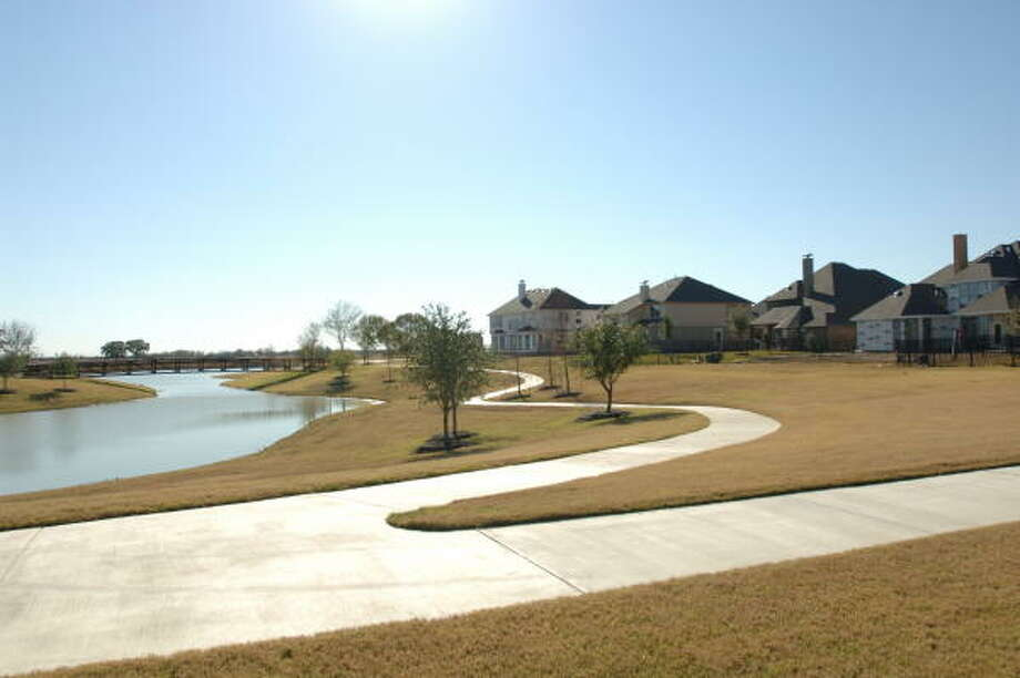 Some homes in Bridgeland Community will have water lanes between homes. Photo: Eddy Matchette, For The Chronicle