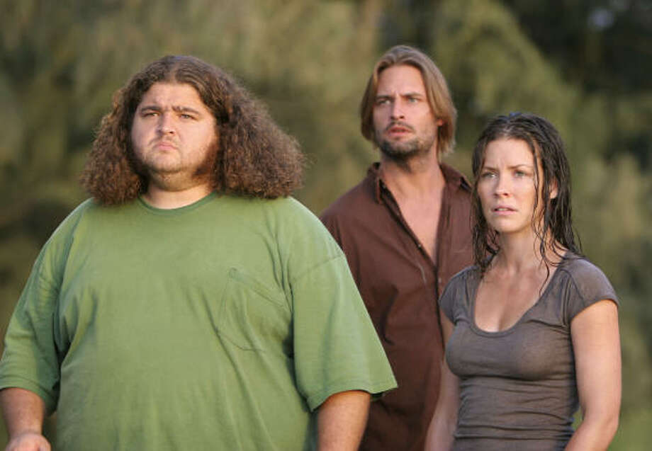 Lost, starring Jorge Garcia, left, Josh Holloway and Evangeline Lilly, is scheduled to take a break after airing six new episodes. Photo: MARIO PEREZ, AP