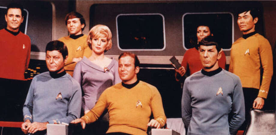 The Star Trek crew premiered on NBC 40 years ago this Friday. Photo: Chronicle File
